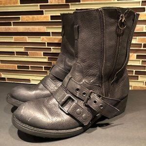 Ash Zipper Combat Boots Size 39